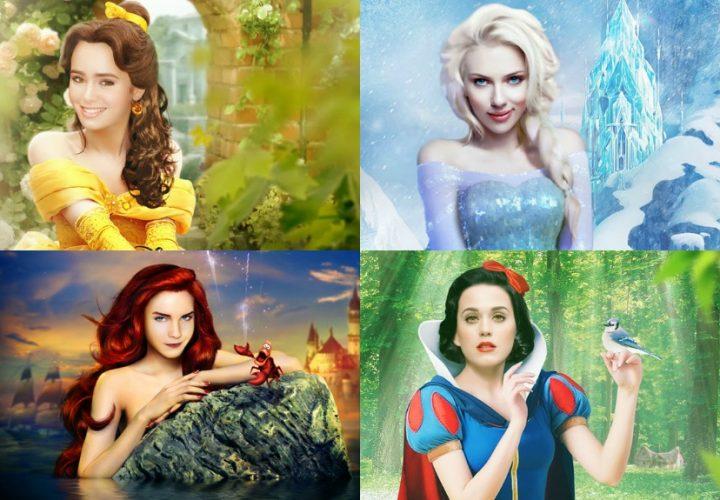 Así se verían las estrellas de Hollywood como Princesas de Disney